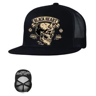 Kšiltovka BLACK HEART Devil Skull Trucker černá