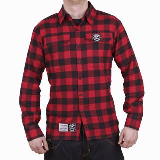 Košile dlouhý rukáv BLACK HEART Redneck červená - XXL