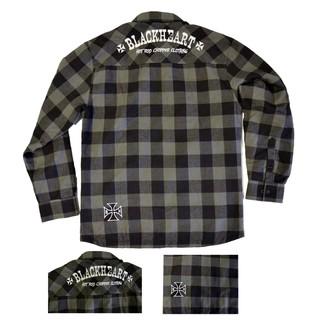 Košile dlouhý rukáv BLACK HEART Duke šedá - XXL