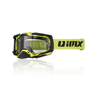 Motokrosové brýle iMX Dust Graphic Fluo Yellow-Black Matt