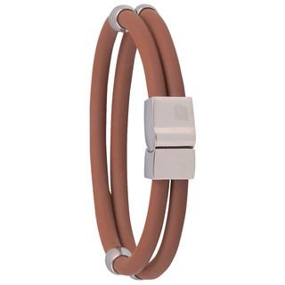 Magnetický náramek inSPORTline Toliman hnědá - 20.50 cm