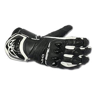 Kožené moto rukavice Berik G-10579-BK Black černá - 3XL