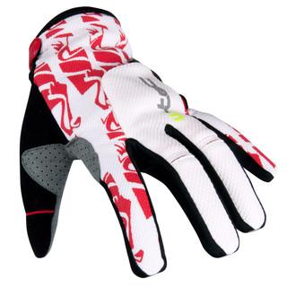 Motokrosové rukavice W-TEC Hazel bílo-červená - XL