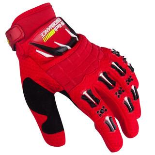 Motokrosové rukavice W-TEC Kader červená - XXL