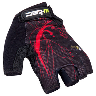 Dámské cyklo rukavice W-TEC Mison černo-červená - L