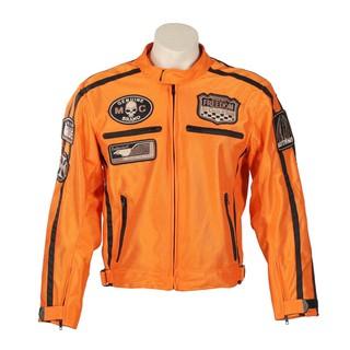 Letní moto bunda BOS 6488 oranžová oranžová - 6XL