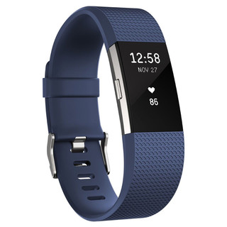 Fitness náramek FITBIT Charge 2 Blue Silver S