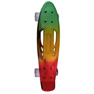 Penny board Karnage Chrome Retro Transition červeno-žluto-zelená