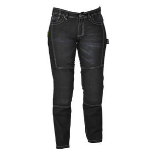 Dámské jeansy na motorku W-TEC Theo černá - 18/XL