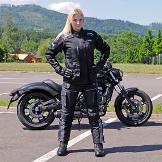Dámské moto kalhoty W-TEC Mikusa NF-2680 - černá