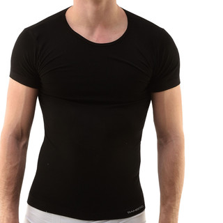 Pánské triko s krátkým rukávem EcoBamboo černá - L/XL
