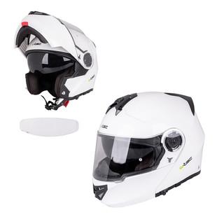 Výklopná moto helma W-TEC V270 PP bílá - XL (61-62)