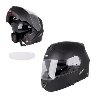 Výklopná moto helma W-TEC V270 PP matně černá - XL (61-62)