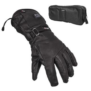 Kožené vyhřívané lyžařské a moto rukavice Glovii GS5 černá - XL