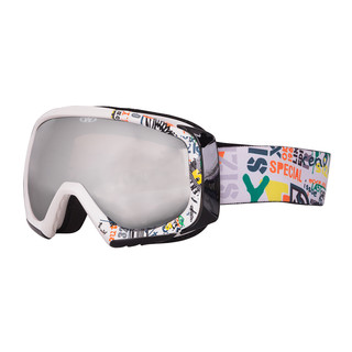 Lyžařské brýle WORKER Hiro s grafikou bílý grafit
