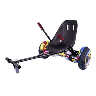 "Elektroboard Windrunner EVO Art - 10"" grafika + sedátko Funcart černé"