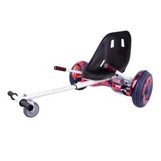 "Elektroboard Windrunner EVO Art - 10"" červený + sedátko Funcart bílé"