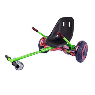 "Elektroboard Windrunner EVO Art - 10"" červený + sedátko Funcart zelené"