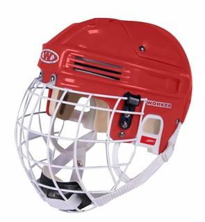 Hokejová přilba WORKER Joffy červená - S (50-56)