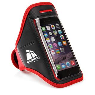 Běžecký obal na telefon s kapsičkou Meteor červená