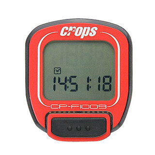 Cyklocomputer Crops W1009 bezdrátový červená