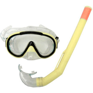 Sada brýle Francis Cristal Junior + šnorchl Junior žlutá