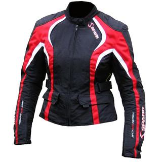 Dámská moto bunda Spark Sara červená - XL