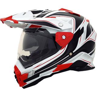 Motokrosová helma Cyber UX 33 bílo-červená - XXL (63-64)