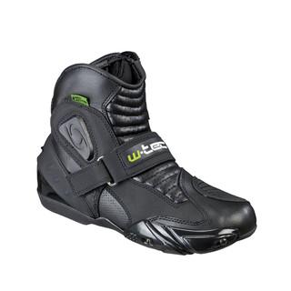 Pánské kožené moto boty W-TEC Tochern NF-6032 černá - 47