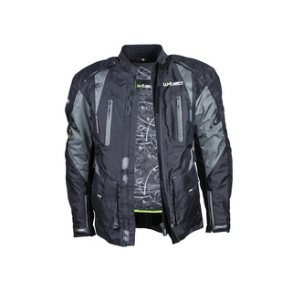 Pánská moto bunda s rezervoárem na vodu W-TEC NF-2219 - černo-khaki zelená