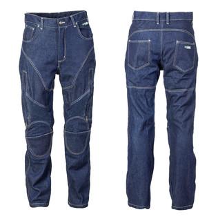 Pánské kevlarové moto jeansy W-TEC NF-2931 tmavě modrá - XL