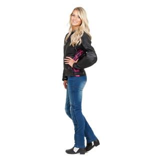 Dámské moto jeansy W-TEC Lustipa - modrá