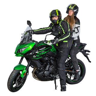 Pánská dlouhá moto bunda W-TEC Glomnitz NF-2205 - černo-zelená