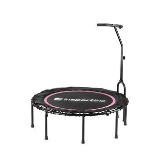 Bezpružinová trampolína s držadlem inSPORTline Cordy 114 cm růžová