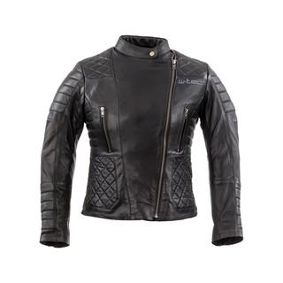 Dámská kožená moto bunda W-TEC Corallia Black - XXL