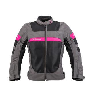Dámská letní moto bunda W-TEC Monaca Black Mesh-Pink - XXL