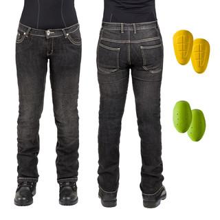 Dámské moto jeansy W-TEC C-2011 černé černá - 39