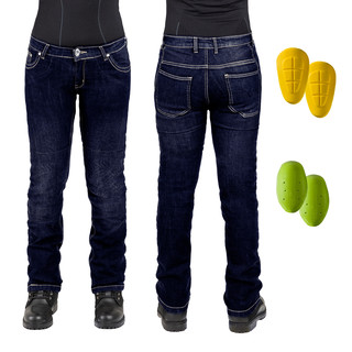 Dámské moto jeansy W-TEC C-2011 modré modrá - 27-28