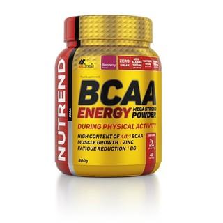 Energetická směs Nutrend BCAA Energy Mega Strong Powder malina