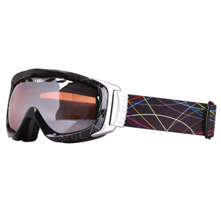 Lyžařské brýle WORKER Bennet s grafikou černý grafit