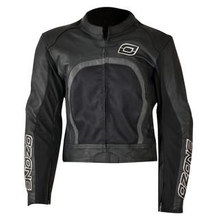 Kožená bunda Ozone Evotec černá - L
