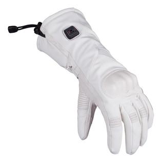 Dámské vyhřívané lyžařské a moto rukavice Glovii GS6 bílá - M