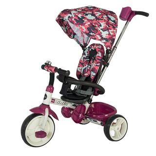 Dětská tříkolka s vodící tyčí Coccolle Urbio Army Pink