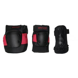 Chrániče Spartan Coolmax set 6-dílný černo-červená - XL