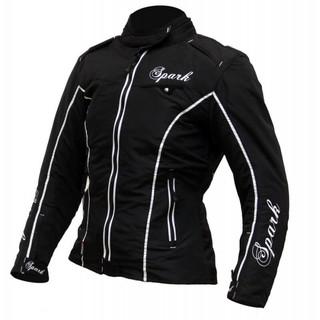 Dámská textilní moto bunda Spark Nora černá - 4XL