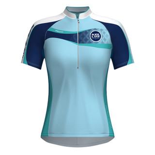 Dámský cyklistický dres KELLYS Faith - krátký rukáv modrá - XL
