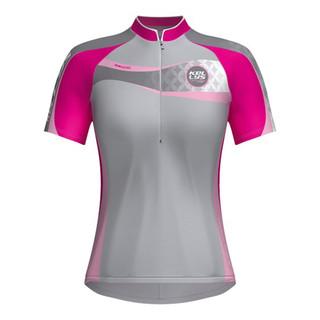 Dámský cyklistický dres KELLYS Faith - krátký rukáv růžová - XL