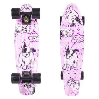 "Penny board Fish Print 22"" - Black Dog"