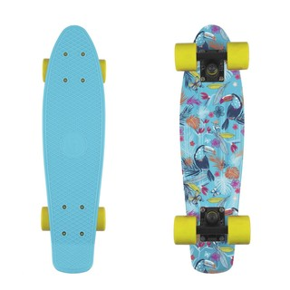 "Penny board Fish Print 22"" Tucans-Black-Yellow"