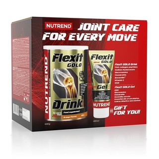 Kloubní výživa Nutrend Flexit Gold Drink 400 g + Flexit Gold Gel pomeranč